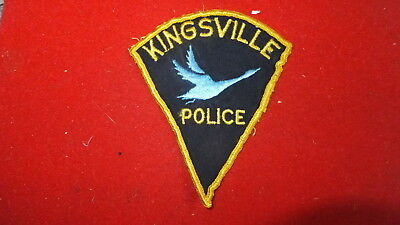 Police Patch  -  Kingsville  , Ontario - Canada