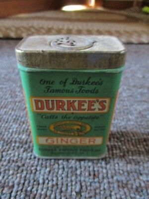 Very old DURKEE'S GINGER 2oz. SPICE TIN....L@@K!