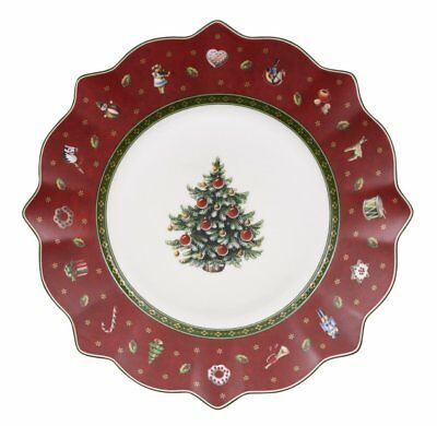 Villeroy & and Boch Christmas TOY'S DELIGHT red salad / dessert plate - set of 2