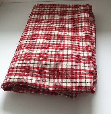 Walton Traditional Textiles Gingham Checked Red/Cream 100% Cotton Table Cloth
