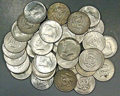 $3 FACE VALUE 1964 P or D KENNEDY HALF DOLLARS 90% SILVER COINS (LOT OF 6 COINS)