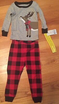 Boys 12 Months Reindeer 2 Piece Pajamas By Carters New With Tags!