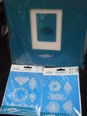 "**NEW SEALED** Screen Sensation 7"" x 5"" Aperture Frame with 2 Screens & Ink"