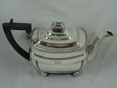 ATTRACTIVE, GEORGE III silver TEA POT, 1808, 580gm