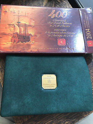 2004 Canada Silver Proof Set 400th Anniversary First NA Settlement