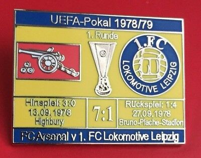 Pin - FC Arsenal London - 1. FC Lok Leipzig - UEFA Pokal 1978/79