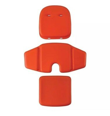 NEW OXO Tot Sprout Chair Replacement 3pc Cushion Set Orange #6309400 High chair