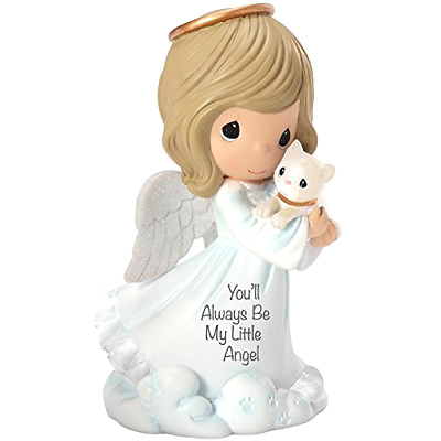 Precious Moments, You'll Always Be My Little Angel Girl And Cat Figurine, .