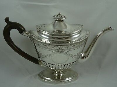 RARE, SCOTTISH GEORGE III silver TEA POT, 1796, 655gm