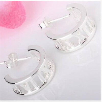 wholesale Fine Jewelry Solid 925Silver Fashion beautiful Roman  Earrings