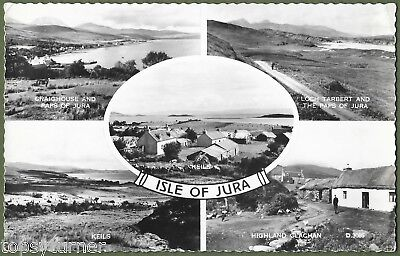 Isle of Jura. Five Real Photo Views. Craighouse Postmark 1962.
