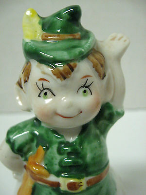 VINTAGE porcelain PETER PAN bell hand painted * marked JSNY
