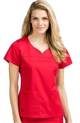 New MC2 by Med Couture Scrub Set Pant Medium Regular Red Medical Uniform