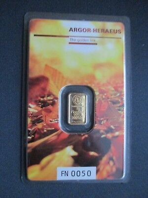 "1g Goldbarren,Argor Heraeus, Following Nature 2017 ""Herbst"",999,9/1000 Fine Gold"