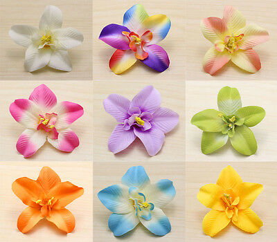 5pcs Wholesale Cartland Thai Orchid Artificial Simulation Flowers Heads mixed