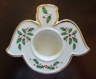 """Lenox ~ American by Design  """"Holiday"""" Angel Votive ~ Mint"""
