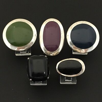 Wholesale Jewelry 925 Sterling Silver Lot Of 5 Rings Lot#209