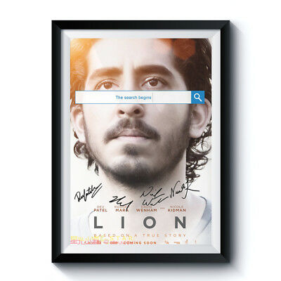 LION Casts Autograph Poster Reprint Signed Movie Dev Patel Home Wall Art Deco