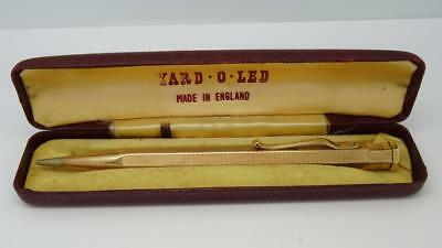 Vintage Rolled Gold Yard O Led Propelling Pencil in Original Box & Instructions