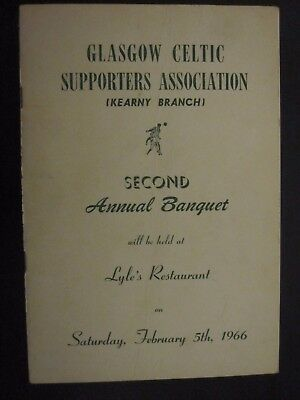 Rare Brochure - 1966 Kearny Branch USA Celtic Supporters Club Rally No 2