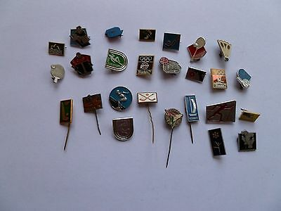 26 sports related pin badges
