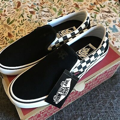 Vans x Thrasher slip on pro checkerboard shoes