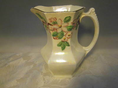 "Vintage Malingware Hand Painted floral 8"" Ringtons Table Milk - Water Lustre Jug"