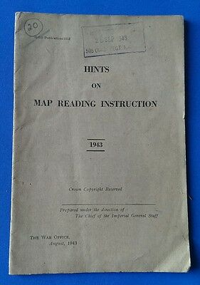 1943 Hints on Map Reading Instruction. 509 Coast Regiment. RA (Tynemouth)