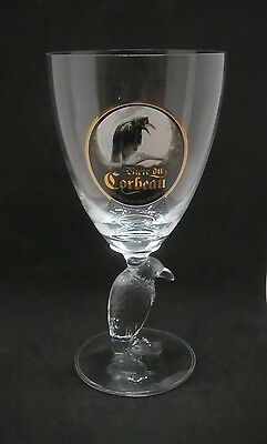 Corbeau Belgium Beer 33cl Glass New With The Stunning Crow In The Stem