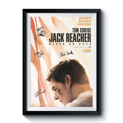 JACK REACHER Casts Autograph Movie Poster Reprint Tom Cruise Home Art Wall Deco