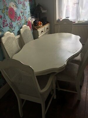 PROJECT! Beautiful Antique Dining Table with 6 Matching Chairs- In Need of TLC