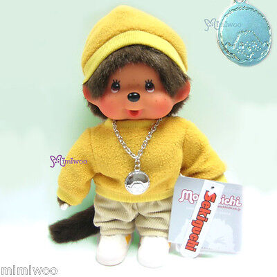 Sekiguchi Monchhichi S Size Plush Fleece Cap Sweater Top Pants Shoes Boy Yellow