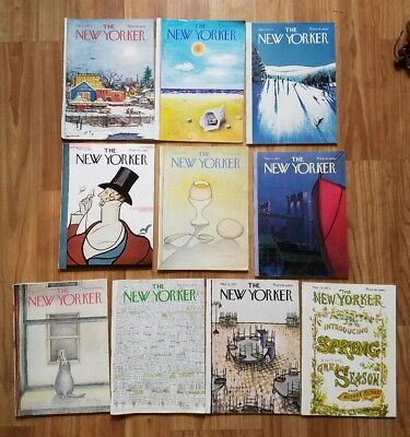 11~ 1973 The New Yorker magazine ~ Cover Art - Nice Lot!!