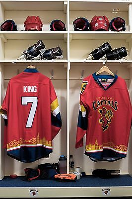 Edinburgh Capitals Scottish Cup game worn shirt #07 King