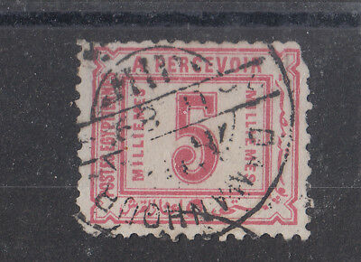 Egypt 1889 Daman Hour Use On 5m Postage Due SGD67