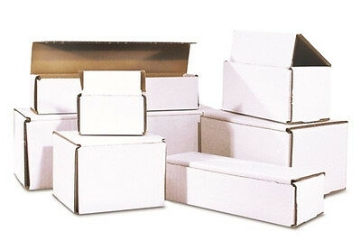50 - 8 x 6 x 2 White Corrugated Shipping Mailer Packing Box Boxes