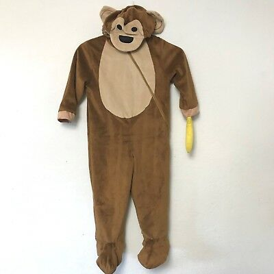 Monkey Costume 2T 3T Toddler Brown Banana Halloween Dress Up Target
