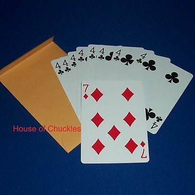 Wild Card Magic Card Trick Bicycle Red Back - Packet
