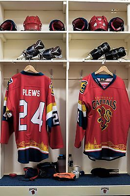 Edinburgh Capitals Scottish Cup game worn shirt #24 Plews