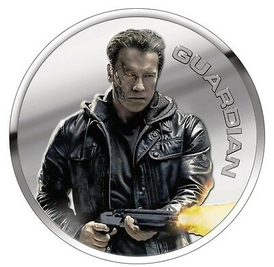 Terminator Genisys Guardian 1 Oz. Silver Proof  Round With COA & Individual