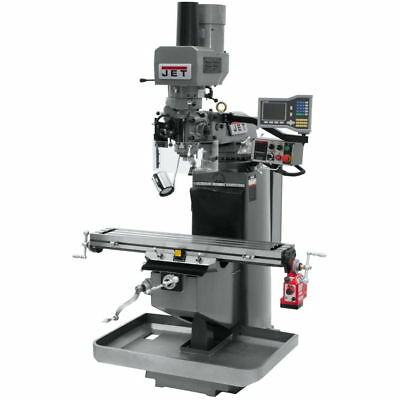 Jet 690511 JTM-949EVS Mill w/ 3-Axis Acu-Rite VUE DRO (Knee), X Pwrfeed, Air Pow