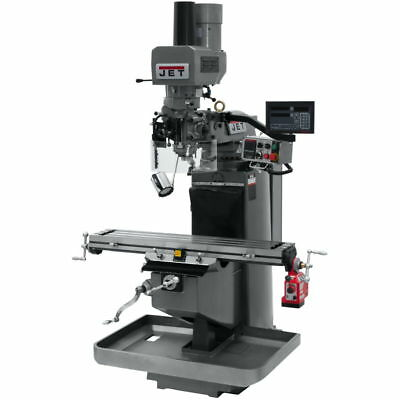 Jet 690546 JTM-949EVS Mill w/ 3-Axis Newall DP700 DRO (Quill), X Pwrfeed, Air Po