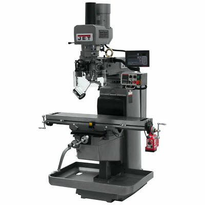 Jet 690645 JTM-1050EVS2 Mill w/ 3-Axis Quill, Newall DP700, X Pwrfeed, Air Power