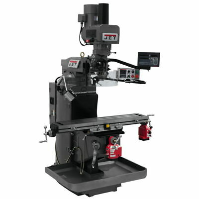 Jet 690543 JTM-949EVS Mill w/ 3-Axis Knee, Newall DP700, X & Y Pwrfeeds, Air Pow