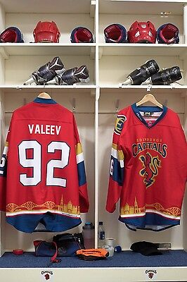 Edinburgh Capitals Scottish Cup game worn shirt #92 Valeev