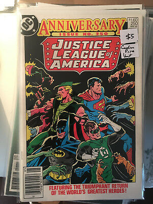 JUSTICE LEAGUE OF AMERICA #250 VF 1st Print CANADIAN PRICE VARIANT Newsstand