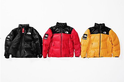 dbf57cde6 SUPREME X THE North Face® Leather Nuptse Jacket M L XL FW17 PREORDER