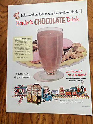 1952 Borden's Chocolate Drink Ad