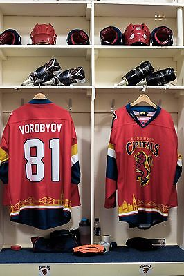 Edinburgh Capitals Scottish Cup game worn shirt #81 Vorobyov