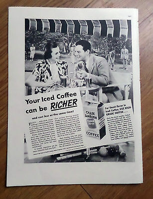 1937 Chase Sanborn Coffee Ad  Grand Flavor in the Bag